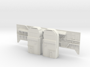Shuttle MLP Side 1 and Serv Masts 1:72 in White Natural Versatile Plastic