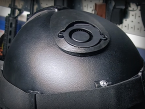 Cyclone Mike Helmet Fan Cover in Black Natural Versatile Plastic