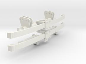 Monoleaf Floating Axle 1/12 in White Natural Versatile Plastic