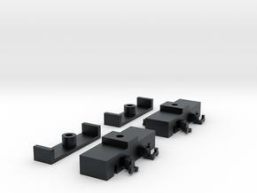 N Scale Budd Silverliner MU TRUCKS 1pr in Black Hi-Def Acrylate