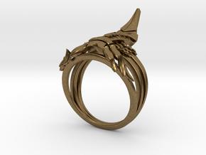 Reaper Ring in Natural Bronze: 12 / 66.5