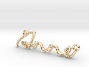 ANNE Script First Name Pendant in 14k Gold Plated Brass