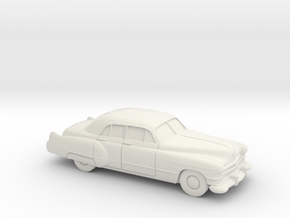 1-87 1949-52 Cadillac Series 62 Sedan in White Natural Versatile Plastic