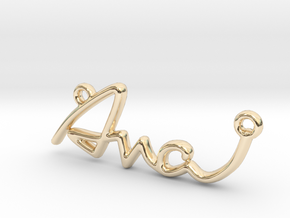 AVA Script First Name Pendant in 14K Yellow Gold