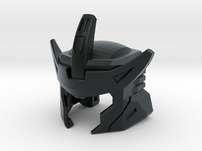 G1 Styled Helm for TR Galvatron in Black Hi-Def Acrylate