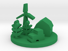 Game Piece, Farm in Green Processed Versatile Plastic