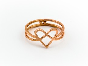 Woven Heart collection: ring in 14k Rose Gold Plated