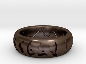 Precursor Ring in Polished Bronze Steel: 4 / 46.5