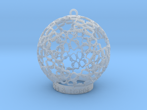 Roses & Roses Ornament in Smooth Fine Detail Plastic
