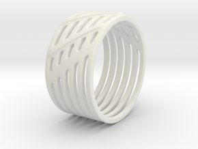 Warrior Ring 17mm in White Natural Versatile Plastic