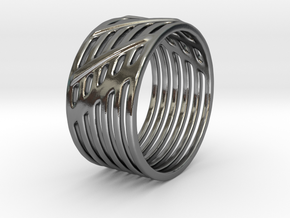 Warrior Ring 17mm in Polished Silver