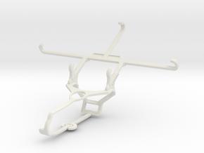 Controller mount for Steam & Apple iPhone 7 Plus - in White Natural Versatile Plastic