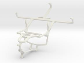 Controller mount for PS4 & Asus Zenfone 2 Laser ZE in White Natural Versatile Plastic