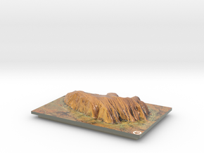 Uluru / Ayers Rock Map in Glossy Full Color Sandstone