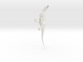 Acrocanthosaurus Dinosaur in White Strong & Flexible