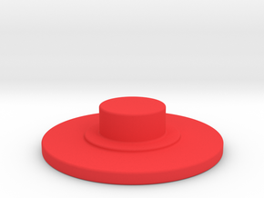 FIDGET SPINNER BUTTON in Red Strong & Flexible Polished