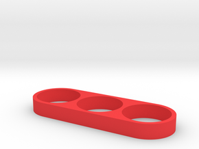 FIDGET HAND SPINNER in Red Processed Versatile Plastic
