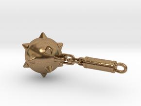 Morning Star Earring 03 (hollow) in Interlocking Raw Brass