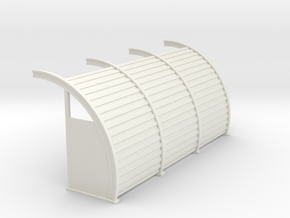 Quonset 3 6ft Panels 8ft - 72:1 Scale in White Natural Versatile Plastic