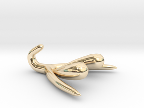 Life-scale Clitoris and Bulbs in 14K Yellow Gold