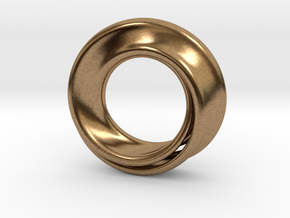 Mobius Strip in Natural Brass