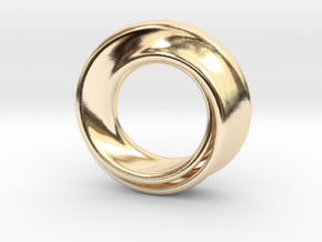 Mobius Strip in 14k Gold Plated Brass