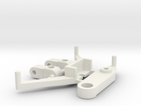 SP2 Spare Parts for CK2 Chassis Kit in White Strong & Flexible
