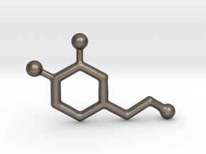 Molecules - Dopamine in Polished Bronzed Silver Steel