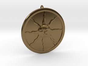 Sunlight Pendant in Interlocking Polished Bronze