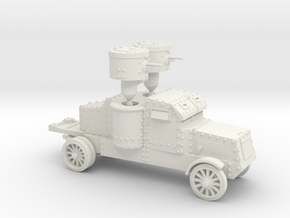 Peerless Armoured Car (15mm) in White Strong & Flexible