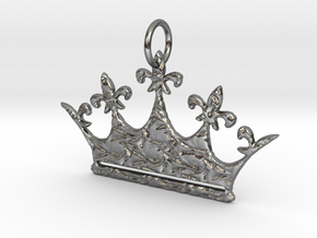 Queen's Crown  in Polished Silver