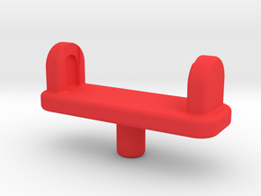 Forearm Gun Adapter in Red Processed Versatile Plastic