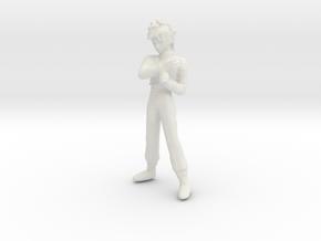 1/24 Racing Driver Standing in White Natural Versatile Plastic
