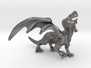 DragonFigurin in Polished Nickel Steel
