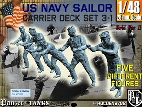 1-48 US Navy Carrier Deck Set 3-1 in Frosted Ultra Detail