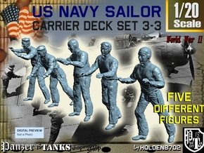 1-20 US Navy Carrier Deck Set 3-3 in White Natural Versatile Plastic