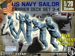 1-20 US Navy Carrier Deck Set 3-4 in White Natural Versatile Plastic