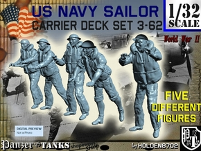 1-32 US Navy Carrier Deck Set 3-62 in Frosted Ultra Detail
