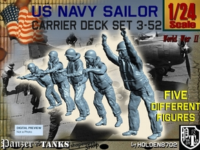 1-24 US Navy Carrier Deck Set 3-52 in White Natural Versatile Plastic