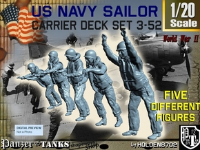 1-20 US Navy Carrier Deck Set 3-52 in White Natural Versatile Plastic