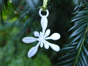 Arabidopsis Ornament  in White Strong & Flexible Polished