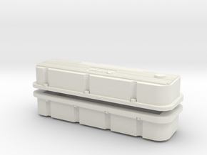 BBC MT Valve Covers 1/12 in White Strong & Flexible