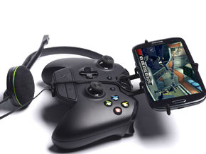 Xbox One controller & chat & Lava X3 - Front Rider in Black Natural Versatile Plastic