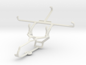 Controller mount for Steam & Lava X46 - Front in White Natural Versatile Plastic