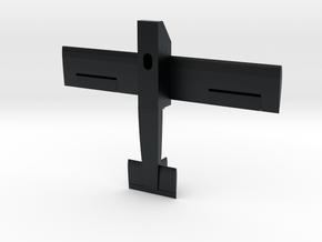 Model Airplane in Black Hi-Def Acrylate