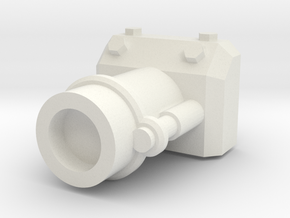 Gaming tank demolition cannon in White Natural Versatile Plastic