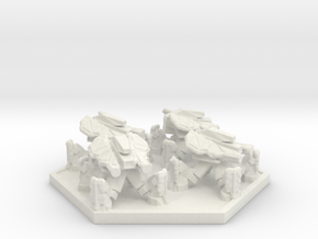 DF Anti Infantry Walker Squad (Hex) in White Natural Versatile Plastic