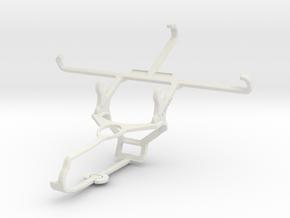 Controller mount for Steam & Lenovo Vibe S1 Lite - in White Natural Versatile Plastic