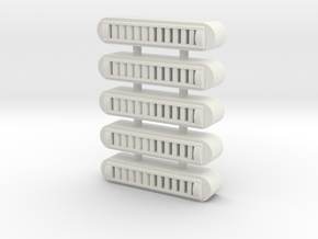 Duct Vent(5) - 72:1 Scale in White Strong & Flexible