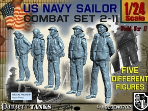 1-24 US Navy Sailors Combat SET 2-11 in White Strong & Flexible
